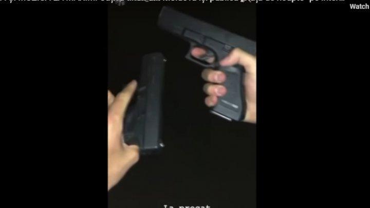 """Развлечения """"золотой молодежи"""" в Кишиневе: гонки на шикарных авто и стрельба из пистолетов (ВИДЕО)"""