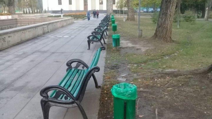 В День города в центре Кишинева установят дополнительный мусорные баки