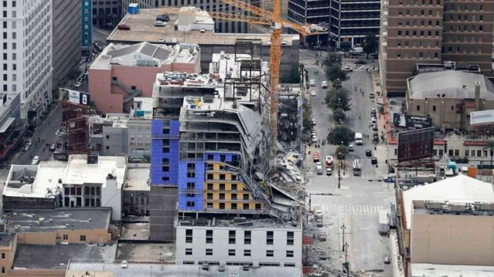 В Новом Орлеане обвалилась недостроенная гостиница (ВИДЕО)