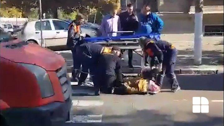 """Подробности аварии в центре столицы: """"Я услышал удар, когда повернулся, увидел, что сбили женщину"""""""