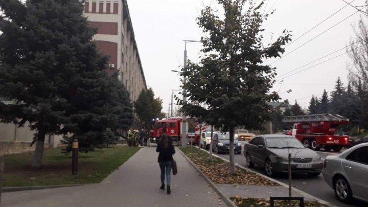 В здании НЦБК произошло короткое замыкание