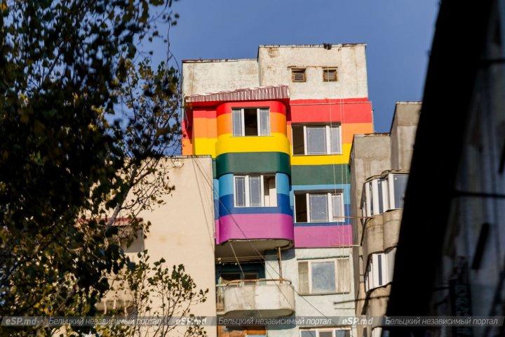 Серость не в моде: группа жильцов из Бельц внесла разнообразие в монотонность высотки (ФОТО)