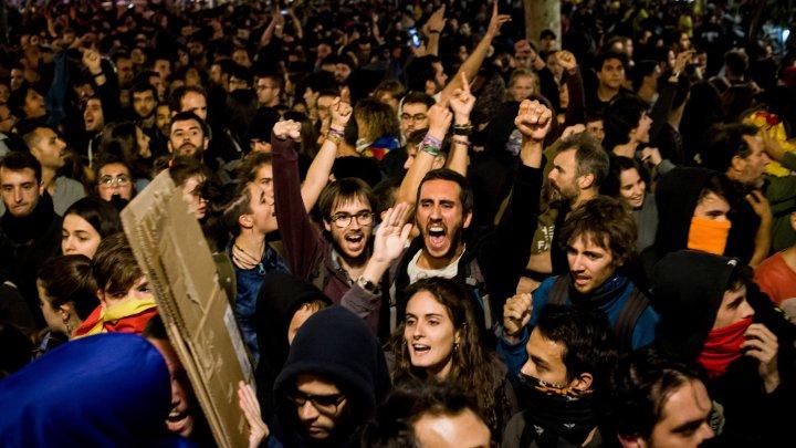 Четыре человека потеряли зрение во время беспорядков в Каталонии