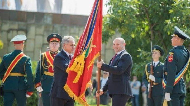 Игорь Додон рассказал, где намерен хранить боевое знамя, подаренное Сергеем Шойгу (ФОТО, ВИДЕО)