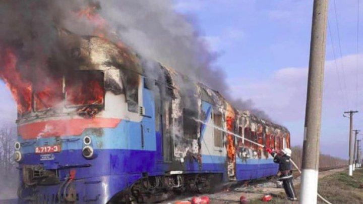 В Николаевской области Украины загорелся поезд с пассажирами (ФОТО)
