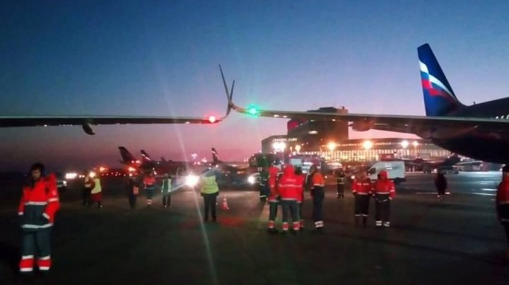 В московском аэропорту зацепились два самолета (ВИДЕО)