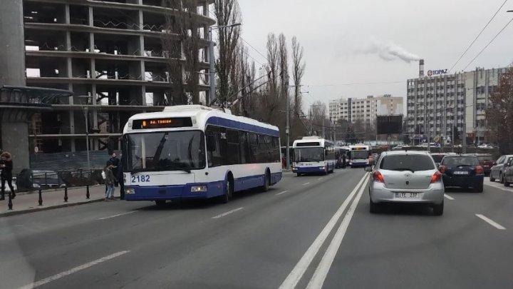 Всем стоять! На бульваре Штефан чел Маре не ходят троллейбусы
