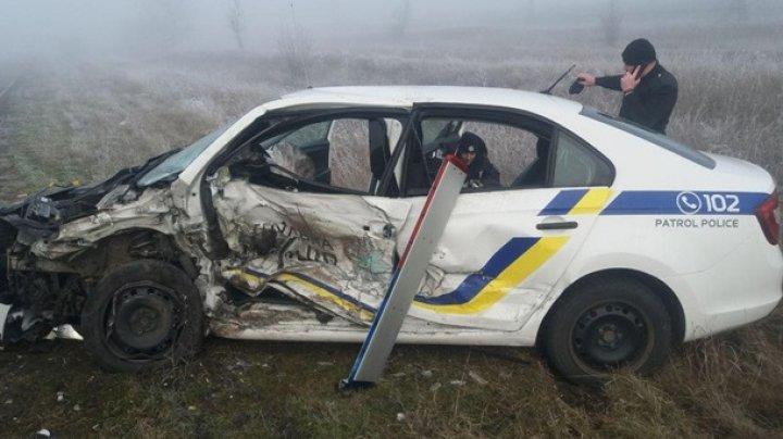 В Украине пьяный патрульный на легковушке врезался в машину своих коллег (ВИДЕО)