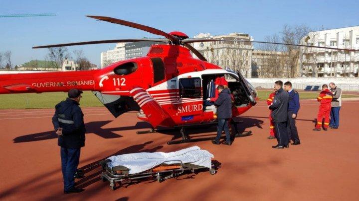 Пострадавшую в ДТП 20-летнюю девушку доставили в Кишинёв на вертолёте SMURD