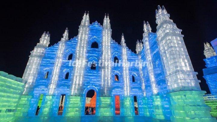 Праздник любви в царстве льда и снега: зимний фестиваль в Харбине открылся массовой свадьбой