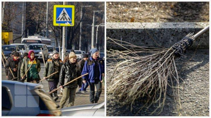 Чем подметают улицы столичные дворники (ФОТОГАЛЕРЕЯ)