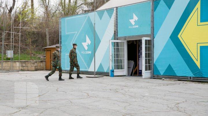Центр COVID-19: министр обороны рассказал об обустройстве временной больницы на Moldexpo