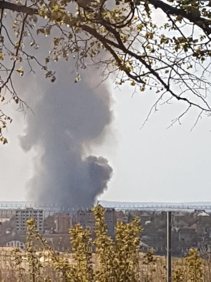 Пожар в городе Кодру: Клубы дыма видны за несколько километров (ФОТО, ВИДЕО)