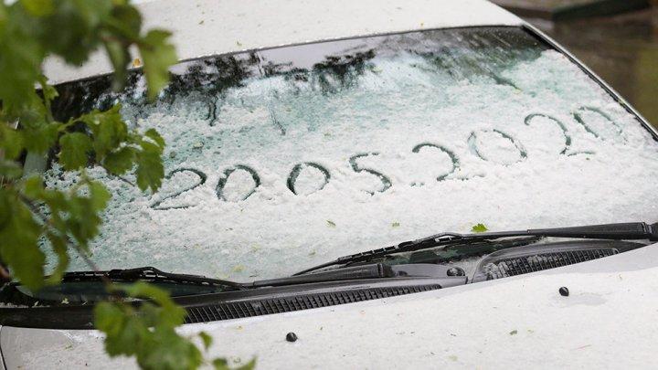 В Москве выпал майский снег (ВИДЕО)