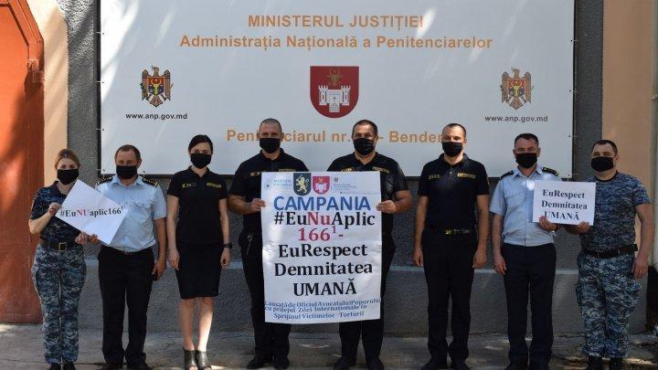 Национальная администрация пенитенциарных учреждений присоединилась к кампании по осуждению пыток (ФОТО)