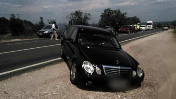 В Хынчештском районе двое детей пострадали в ДТП из-за водителя, выехавшего на встречку