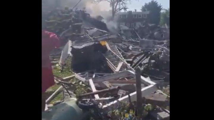 """""""Будто рванула бомба"""": мощный взрыв снес три дома в США"""