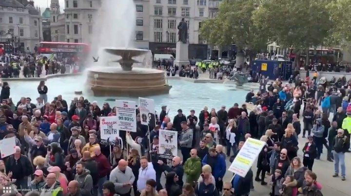 В Лондоне протест против коронавирусных ограничений перерос в беспорядки