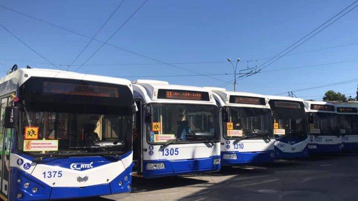 На улицах Кишинёва временно не будет троллейбусов для школьников