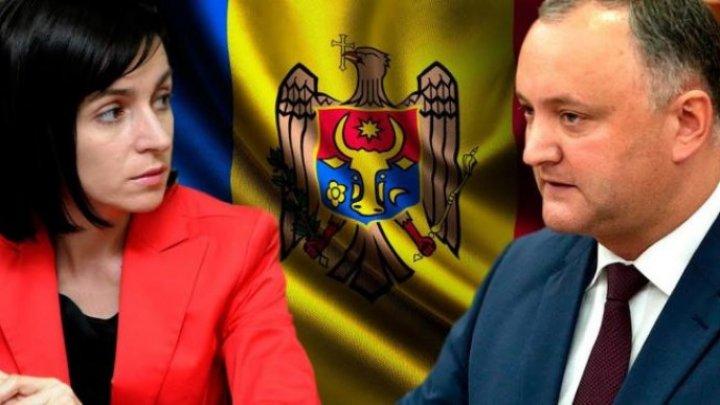 Игорь Додон приглашает Майю Санду к диалогу: Идеальный вариант – коалиция между правыми и левыми