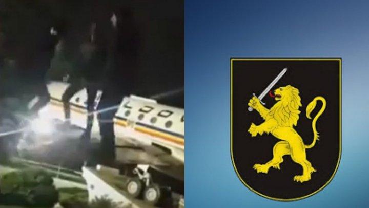 Парней, танцевавших на крыле самолета в столичном аэропорту задержали