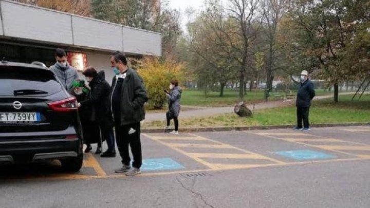 В Италии проголосовать за президента Молдовы к избирательному участку пришла 90-летняя старушка (ФОТО)