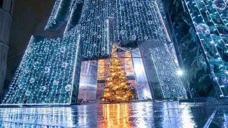 Рождественская елка в Вильнюсе получила звание самой красивой в Европе в 2020 году (ВИДЕО)
