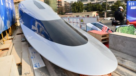 Китай представил прототип поезда, разгоняющегося до 620 километров в час