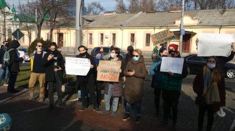 В Кишинёве прошла акция солидарности с Навальным