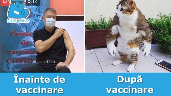 Вакцинация президента Румынии стала поводом для шуток в интернете (ФОТО)