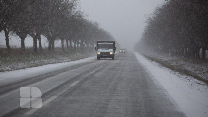 Водителей предупреждают о затруднениях движения на юге Молдовы