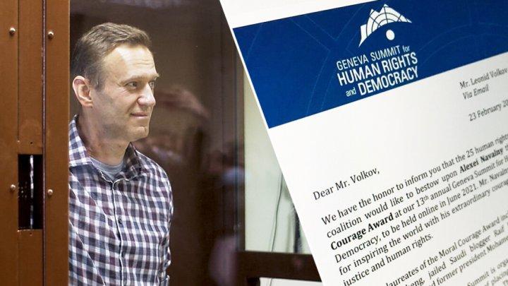 Алексей Навальный стал лауреатом премии Женевского форума по правам человека и демократии