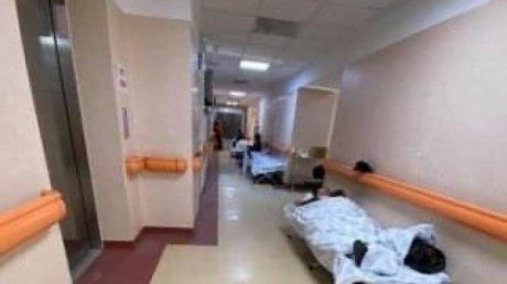 В Каушанской больнице пациентов с коронавирусом размещают в коридорах