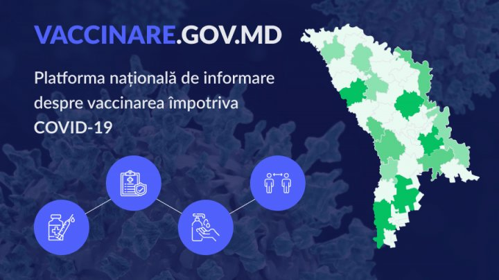 В Молдове запустили интернет-платформу с данными о вакцинации от коронавируса