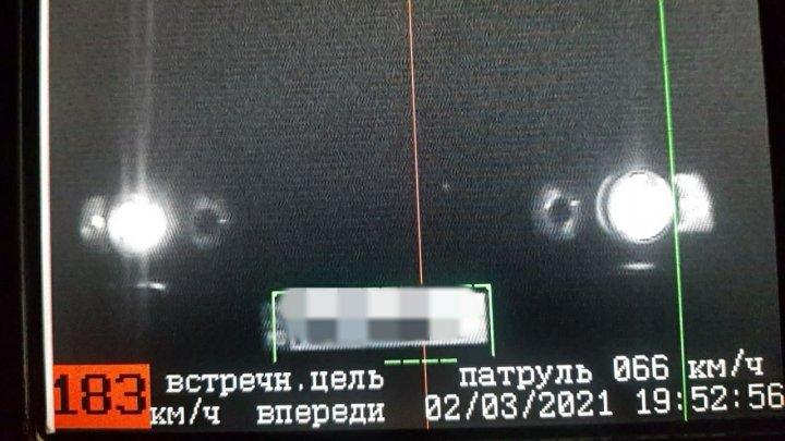 На трассе Кишинёв-Бельцы остановили лихача, разогнавшегося до 183 км/ч