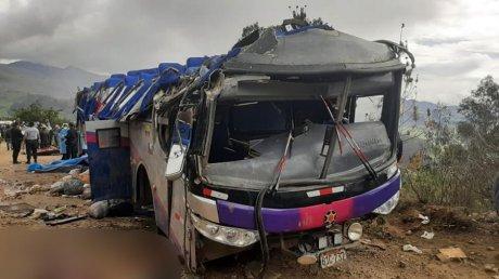 Минимум 20 человек погибли в ДТП с автобусом в Перу
