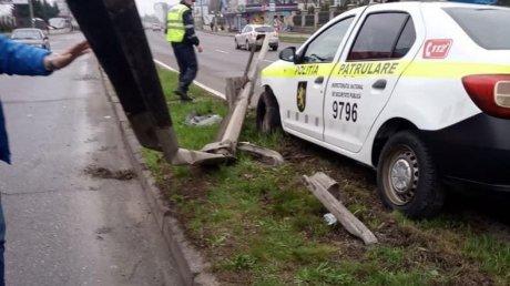 Злосчастный понедельник: автомобиль патрульной полиции попал в аварию (ФОТО)
