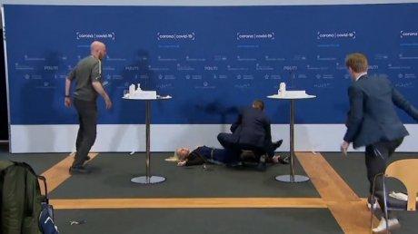 Глава датского Агентства по лекарствам упала в обморок на пресс-конференции, посвященной вакцинации
