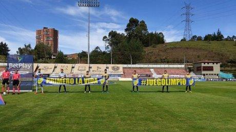 Семеро против одиннадцати: странный матч чемпионата Колумбии по футболу
