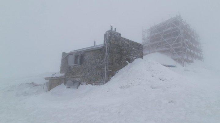 Украинские Карпаты засыпало снегом в середине апреля