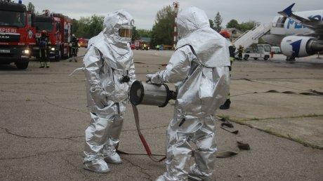В кишинёвском аэропорту прошли аварийно-спасательные учения