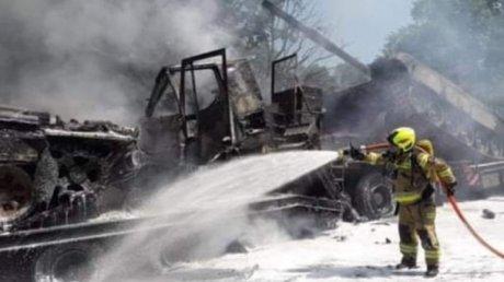 ДТП с военной техникой в Польше: сгорели два танка, пострадавших нет (ФОТО)