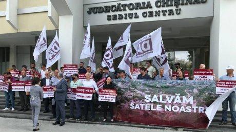 """Протест в Кишинёве: """"Платформа DA"""" недовольна политикой в отношении фермеров и предпринимателей из сельской местности"""