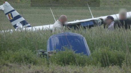 Легкомоторный самолёт, рухнувший в Гэуренах на пшеничном поле, был вовлечён в ещё один инцидент