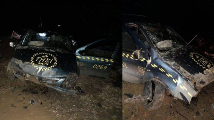 ДТП в Хынчештском районе: водитель такси не справился с управлением на мокрой дороге