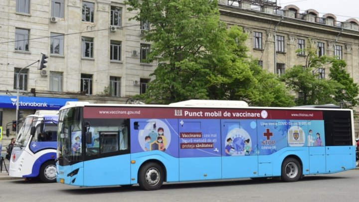 Мобильные пункты вакцинации в Кишинёве: где их найти 17 октября