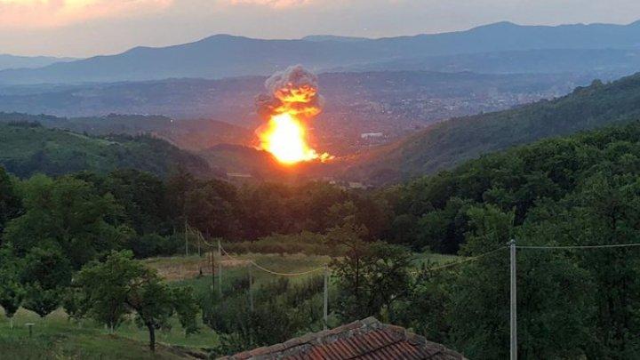 В Сербии произошел новый мощный взрыв на заводе боеприпасов