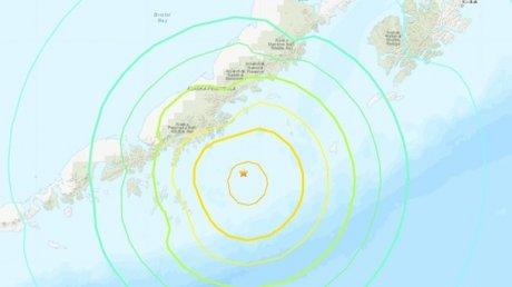 У берегов Аляски произошло землетрясение магнитудой 8,2