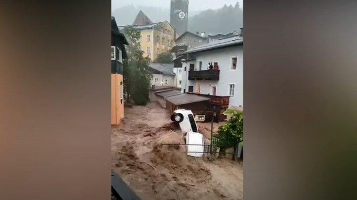 Последствия разгула стихии в Европе: в Австрии начались наводнения, в Германии и Бельгии расчищают завалы