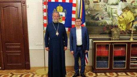 Обсудили важность сотрудничества церкви и государства: спикер встретился с митрополитом Кишинёвским и всея Молдовы